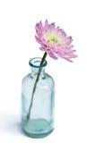 花玻璃花瓶 免版税库存图片