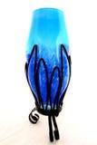 花玻璃花瓶 免版税库存照片