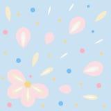 从花瓣的致敬 库存图片