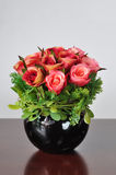 花瓶人造花 库存照片