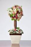 花瓶人造花 库存图片
