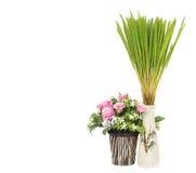 花瓶和花 库存照片