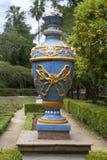 花瓶在parque de玛丽亚路易莎,塞维利亚 库存照片