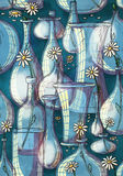 花瓶样式 库存图片