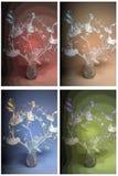 花瓶的豆植物 免版税图库摄影
