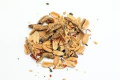 花生鲥鱼油炸物 免版税库存图片