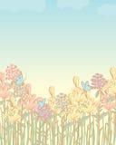 花田柔和的淡色彩 免版税库存照片