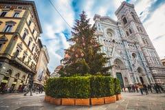 花的圣玛丽大教堂在佛罗伦萨,意大利 免版税图库摄影