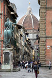 花的圣玛丽大教堂在佛罗伦萨 库存照片