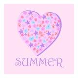花的夏天心脏 库存图片