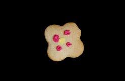 以花的形式姜饼 免版税库存照片