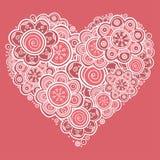 花的心脏 库存图片