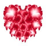 花的红色心脏 免版税库存照片