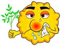 花粉以花粉症 向量例证