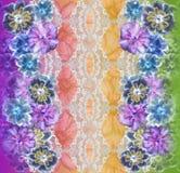 花纹花样在无缝的布料,织品, backgrou的纹理设计 免版税库存图片