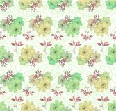 花纹花样在绿色和黄色树荫下 无缝的模式 皇族释放例证