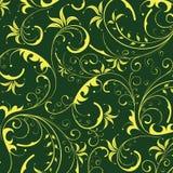 花纹花样无缝的黄色 库存图片