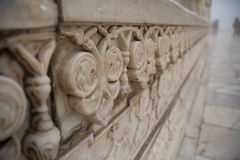 花纹花样石头在泰姬陵 免版税库存图片
