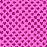 花纹花样:桃红色和一cosmece的紫色小花在桃红色背景的-美好的夏天轻拍印刷品 库存照片