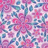 花线瓣图画被加点的无缝的样式 向量例证