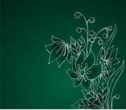 花绿色银 图库摄影