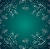 花绿色银 库存照片