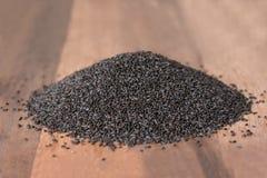 紫花罗勒种子堆  免版税库存照片
