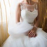 花美丽的花束准备好大婚礼 库存照片