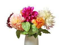 花美丽的花束在花瓶的 免版税库存图片