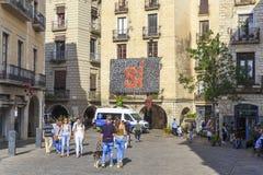 花节日在希罗纳,西班牙 库存照片