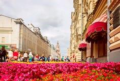 花节日在莫斯科2016年7月8日 Zum 库存照片