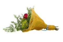花花束在包裹的 库存图片