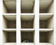 花花束在墓地 库存照片