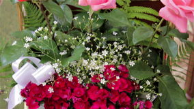 花花束在教会里 影视素材