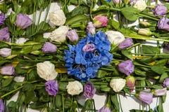 花花束安排装饰 库存图片