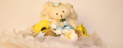 花花束新娘的婚礼的 库存照片