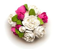 花花束从黏土的 库存图片