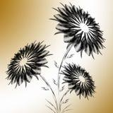 黑花花束  免版税库存图片