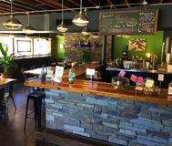 花蜜素食主义者餐馆,阿什维尔NC 免版税库存照片