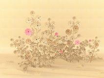 花被回收的origami纸张 库存照片