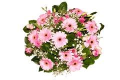 花被隔绝的各种各样的五颜六色的花的花束汇集 免版税图库摄影