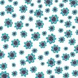 花被仿造的背景 免版税图库摄影