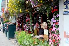 花装饰, Barmouth,威尔士 图库摄影
