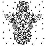 花设计元素 免版税库存照片