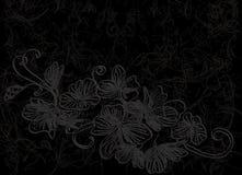花设计摘要背景黑色 皇族释放例证