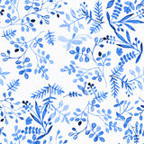 花设计的水彩 丝织物的装饰品 Painti 库存照片