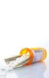花费医疗保健上升 免版税库存照片