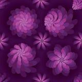 花转动风车紫色薄雾无缝的样式 免版税图库摄影