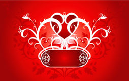 花重点装饰品红色 免版税图库摄影