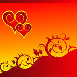 花重点装饰红色 免版税图库摄影